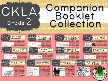 CKLA  Second Grade Companion Booklet BUNDLE TEAM LICENSE Domains 1 to 12