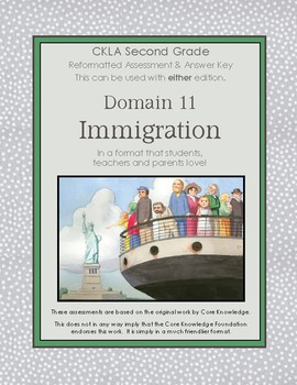 CKLA Second Grade Domain 11 Immigration Alternative Assessment