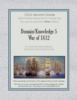 CKLA Second Grade Domain 5 War of 1812 Alternative Assessment