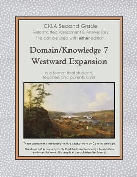 CKLA Second Grade Domain 7 Westward Expansion Alternative Assessment