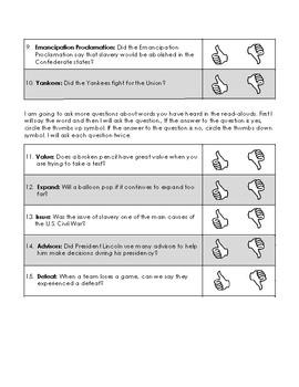 CKLA Second Grade Domain 9 The U.S. Civil War Alternative Assessment