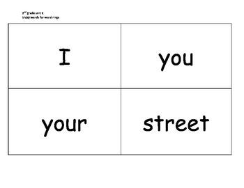 CKLA Skill Strand grade 2 unit 2 tricky words for word rings
