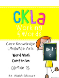 CKLA Skills Word Work Companion:2nd Grade Unit 2