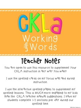 CKLA Skills Word Work Companion: 2nd Grade Unit 6