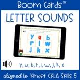 Letter Sound ID BOOM CARDS | Y, U, B, R, L, W, J, K, X | CKLA Skills 5