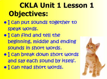 CKLA Skills First Grade Unit 1 Lesson 1
