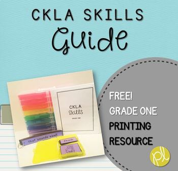 CKLA Skills Strand Grade One Bundle Guide