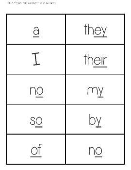 CKLA Skills Strand-1st Grade- Tricky Word Cards- Unit 1 to 7