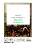 CKLA Skills Strand 6 The War of 1812 Timeline Cards