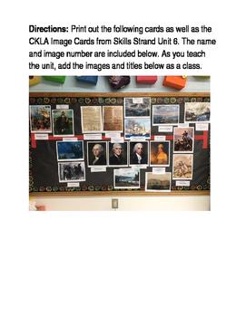 CKLA Skills Strand 6 The War of 1812 Timeline Cards