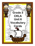 CKLA Skills Strand  Grade 3 Unit 6 Vocabulary Cards Gods, Giants, and Dwarves