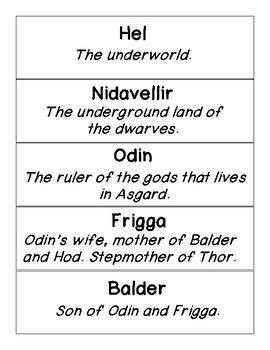 CKLA Skills Strand  Grade 3 Unit 6 Vocabulary Cards Gods, Giants, and Dwarves