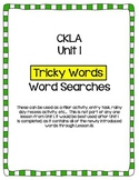 "CKLA Skills Unit 1 ""Tricky Words"" Word Search"