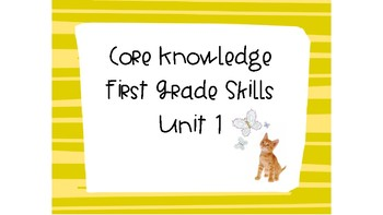 CKLA First Grade Skills Unit 2 Lesson 1