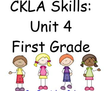 CKLA Skills Unit 4 Lessons 1-28 First Grade Flip Chart