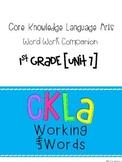 CKLA Skills Word Work Companion: 1st Grade Unit 7