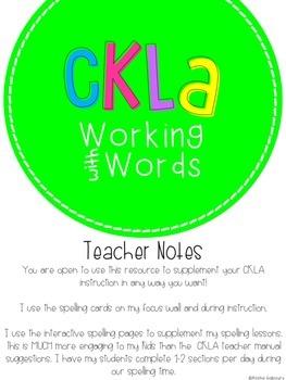 CKLA Skills Word Work Companion: 3rd Grade Unit 4
