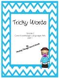 CKLA Tricky Word cards unit 1
