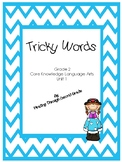 CKLA Tricky Word cards unit 1
