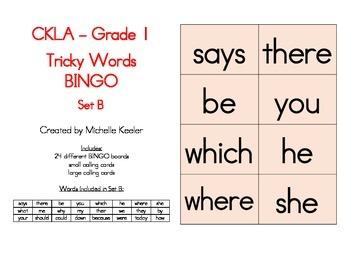 CKLA Tricky Words BINGO Set B