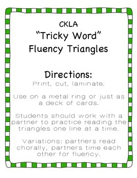 CKLA Tricky Word Triangles