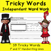 Tricky Words Literacy Center Independent Word Work - Great with CKLA