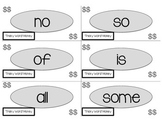 """CKLA Tricky Words                      {""""Word Wallet"""" and """"Money"""" Flashcard Set}"""