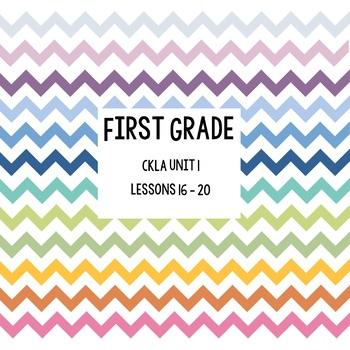 CKLA Unit 1 Lessons 16-20; Skills Strand