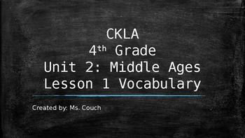 CKLA Unit 2 Lesson 1 Vocabulary