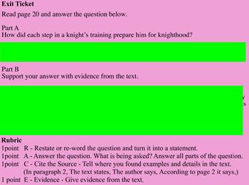 CKLA Unit 2 Lessons 9-12 Middle Ages 4th Grade