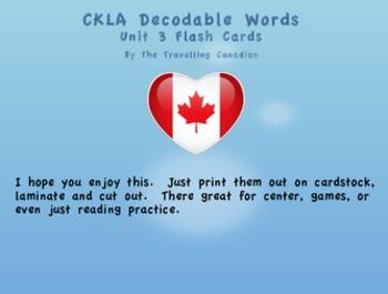 CKLA Kindergarten Unit 3 Decodable Words Flash Cards