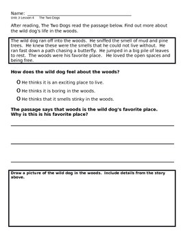 CKLA Unit 3 Foundational Skills - Fables Reader - Higher Level Activities