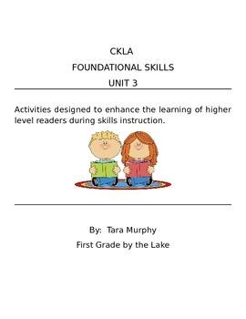 CKLA Unit 3 Foundational Skills - Fables Reader - Higher L