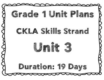 CKLA First Grade Unit 3 Plans