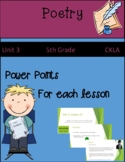 CKLA Unit 3 Poetry (5th Grade)