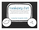 Kindergarten CKLA Unit 3 Vocabulary Sort