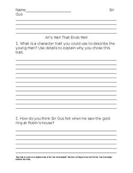 CKLA Unit 5 Decodable Reader Questions
