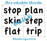 CKLA Kindergarten Unit 6 Decodable Words Flash Cards