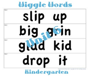 CKLA Kindergarten Unit 6 Wiggle Words Cards