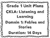 CKLA First Grade Unit Plans Domains 1-3