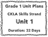 CKLA First Grade Unit Plans for Units 1-3