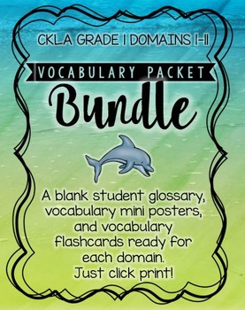 CKLA Vocabulary Bundle, 1st Grade, Domains 1-11