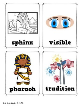 CKLA Vocabulary Early World Civilizations, Grade 1, Vocabulary Packet