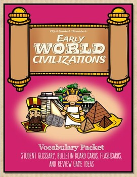 CKLA Vocabulary Early World Civilizations, Grade 1, Vocabu