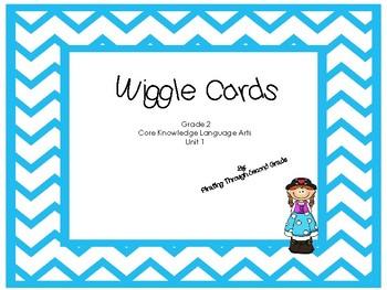 CKLA Wiggle Cards Unit 1 Blue Chevron Theme