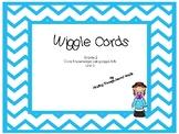 CKLA Wiggle Cards Unit 2 Blue Chevron Theme