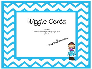 CKLA Wiggle Cards  Unit 4 Blue Chevron Theme