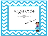 CKLA Wiggle Cards  Unit 4 Blue Chevron Theme