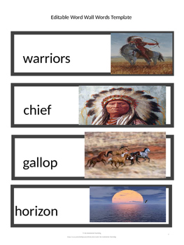 CKLA Word Wall Native Americans