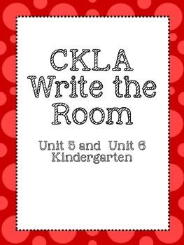 CKLA Write the Room